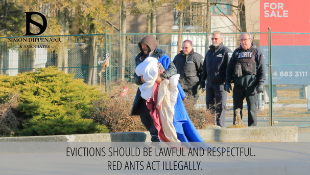 Evictions should be lawful and respectful. Rend Ants act illegally.