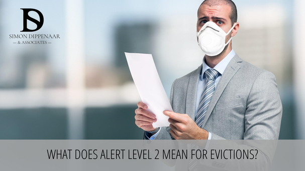 What does alert level 2 mean for evictions