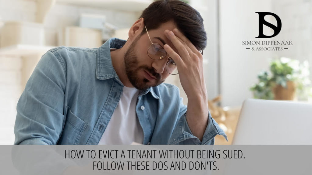 Image depicting a distressed man dealing with an eviction