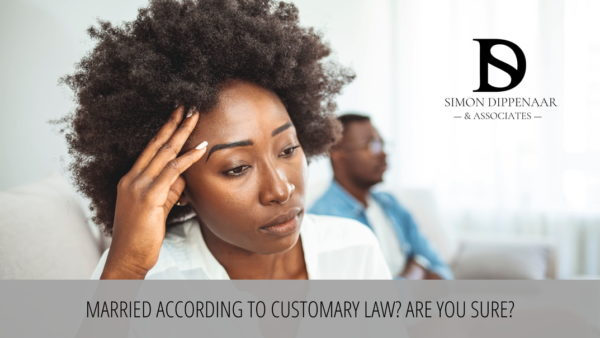 Married under customary law South Africa